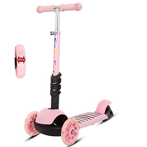 SYCHONG Children's Scooter with PU-Illuminated Wheels,4 Height-Adjustable, Lightweight Children's Scooter, Gravity Steering,for Children, 75 Kg Capacity,A1 ()