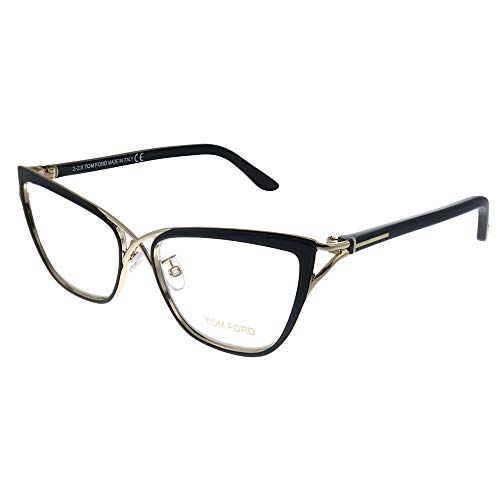 Tom Ford Women's Eyeglasses TF5272 5272 005 Black/Rose Gold Optical Frame 53mm (Tom Ford Frames Männer)