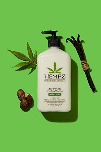 Hempz Body Moisturizer - Daily Herbal Moisturizer, Shea Butter Anti-Aging Body Moisturizer - Body Lotion, Hemp Extract Lotion - Skin Care Products, 100% Pure Organic Hemp Seed Oil