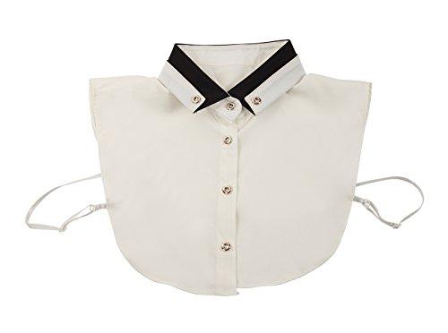 Juvale Fake Collar – Women's Detachable Dickey Collar Half Shirt Blouse, Modern Faux Collars, White