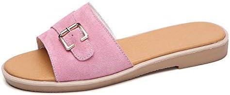 Hemore Women Mules Sandals Suede Flat Flip Flops Simple