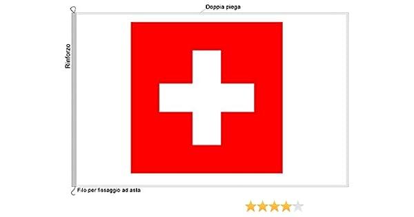 La bandera Suiza de tela náutico 70 x 100 – al Production: Amazon.es: Jardín