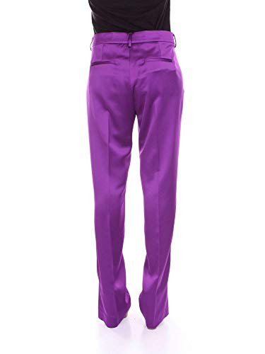 Coton Msgm Femme 2442mdp116b18430214 Violet Pantalon UrURptqc