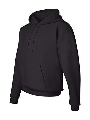 Sudadera con capucha EcoSmart Fleece para hombre de Hanes, negro, medio