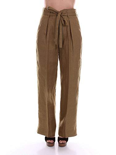 5529verdemilitare Verde Pantaloni Lino Forte Donna qxOW4n7nEU
