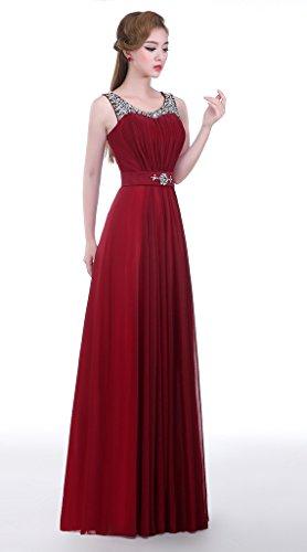 Eudolah - Vestido - para mujer rojo Wine 46