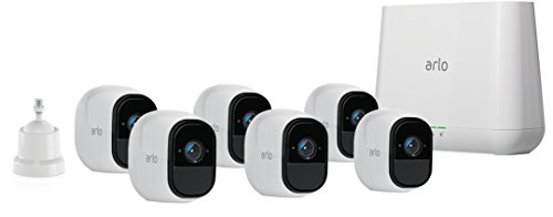 Arlo Technologies by NETGEAR Security System with Siren - 6 Rechargeable Wire-Free HD Cameras with Audio, Indoor/Outdoor, Night Vision (VMS4630), Works with Alexa