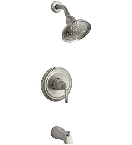 KOHLER TS395-4S-BN Devonshire(R) Rite-Temp(R) bath and shower valve trim with lever handle, slip-fit spout and 2.5 gpm showerhead (Bn Single Devonshire)
