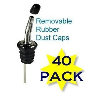 Craftsmind Liquor Bottle Pourer Covers- Bug & Dust Covers. Waterproof,dustproof,anti-bug - 40 Per Pack