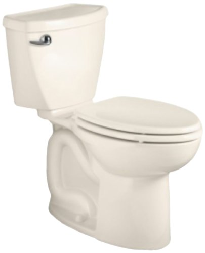 American Standard Cadet 3 Elongated Flowise Two-Piece High Efficiency Toilet with 10-Inch Rough-In, Linen (American Standard Linen Faucet)