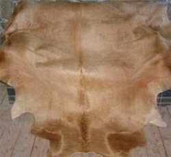Natural Cowhide Solid Caramel