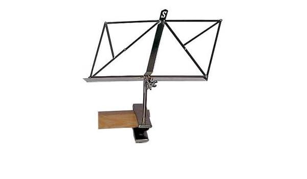 Atril metálico, con sujeción mesa: Amazon.es: Instrumentos musicales