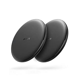 Anker Wireless Charger, 2 Pack PowerWave Pad, Qi-Certified, 7.5W for iPhone 11, 11 Pro, 11 Pro Max, Xs Max, XR, Xs, X, 8, 8 Plus, 10W for Galaxy S10 S9 S8, Note 10 Note 9 Note 8 (No AC Adapter)