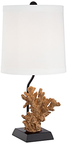 Seaside Faux Coral Gold Table Lamp