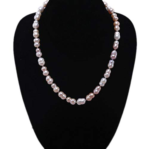 JYX Pearl Classic 8x11-8x13mm Multi-Color Baroque Freshwater Cultured Pearl Necklace 17