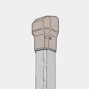パナソニック 《スッキリダクト》 壁面取出しカバー(フリージョイント用) 80型 アイボリー DAS2801W