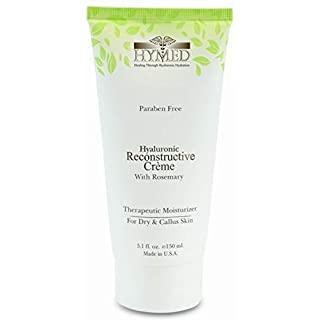 Hylunia Hyaluronic Reconstructive Creme with Rosemary - 5.1 fl oz - Dry and Callus Skin Therapy - Rapid Skin Repair