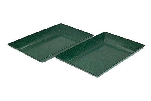 EVO Sustainable Goods Two Piece Serving Dish Set Black