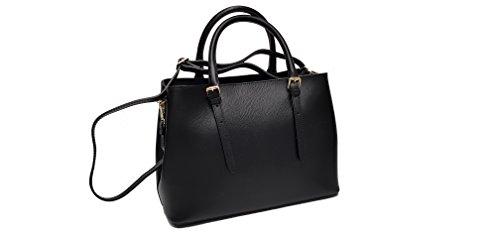 donna e con tracolla stampo borsa in manici due vera saffiano pelle removibile 1wzd4H