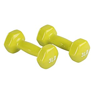 Amazon Basics Vinyl Dumbbell Weight Pair, Set of 2