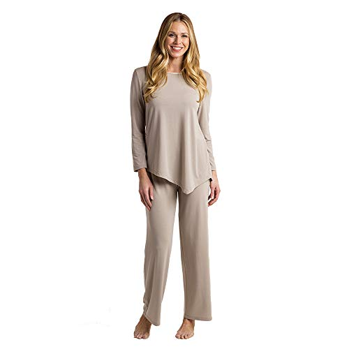 Softies Women's Cooling PJ Set - Belle Collection (X-Large, Oatmeal)
