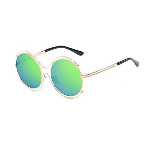 de film Retro rond et lunettes Green femmes Sunglasses cadre GAOLIXIA hommes métal en soleil couleur lunettes lunettes Trend 8xZBHnI