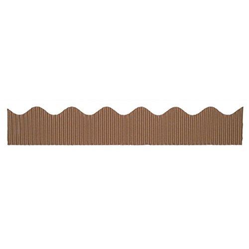Corrugated Scalloped Border - Pacon Bordette(R) Scalloped Border, Brown