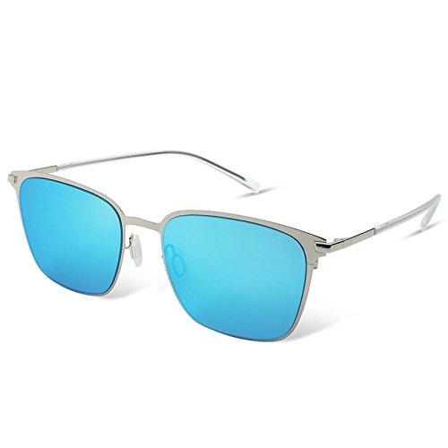 Lunettes Lunettes Nylon TL de de Soleil Guide pour de de Sunglasses Hommes Pas de Carrés Polarisées Blue en Lunettes Les Hommes Les Rectangle FFwxI7zqp