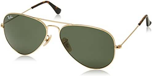 Ray-Ban RB3025 Gold Aviators with Green Lenses