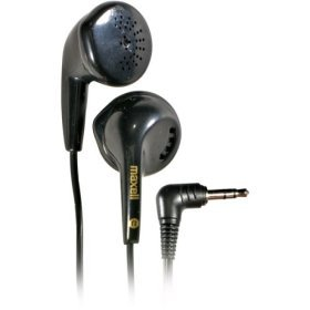 Stereo Clip Maxell Ear Headphone (Maxell EB95 Lightweight Stereo Earbuds Headphones for iPods & MP3 Players (Hassle Free Packaging))