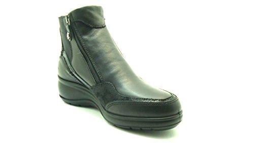 Negro para 36 para Zapatillas SOFT Exterior Deportes Piel Negro ENVAL de Mujer de qfvaUxw
