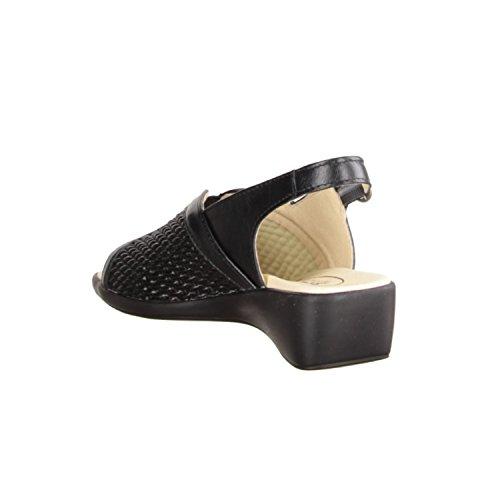 415-100, Schwarz, Leder/Textil (anilincalf/Stretch) SLOWLIES