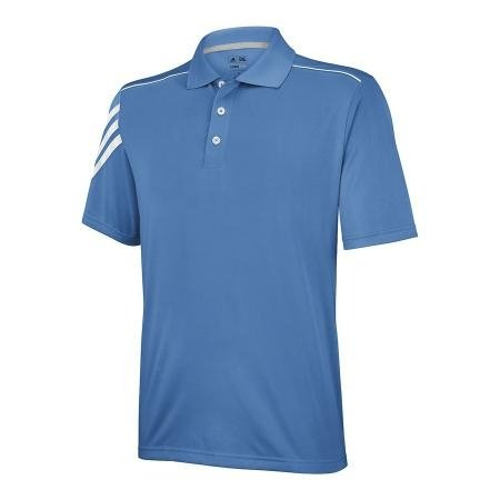 adidas Golf Men's Climacool 3-Stripe Jersey Polo, Ultramarine/White, Small