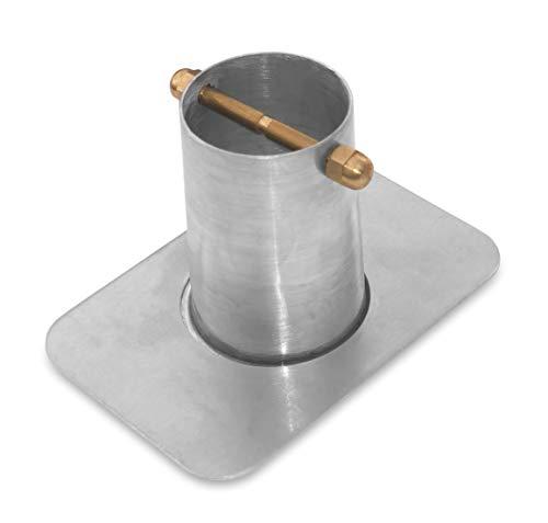 Monarch Rain Chains 18041 Rain Chain Installation (Standard 2-Piece Aluminum Gutter Adaptor with Brass Bolt, Adapter, Mill Finish