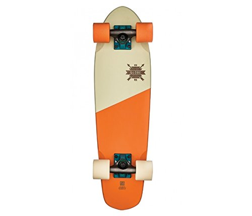 - GLOBE Skateboards Cruiser Complete Skateboard, Blazing Orange/Creme, 26