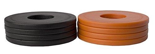 Washer Yard Toss Replacement Pitching Set (Orange/Black, Set of 8)