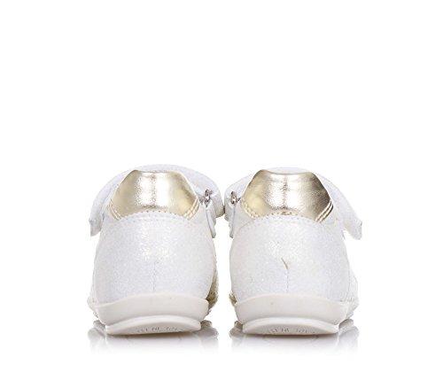 NERO GIARDINI - Beige und goldene Ballerina aus Leder mit Glitzer-Effekt und Spitze, made in Italy, Klettverschluss, Mädchen