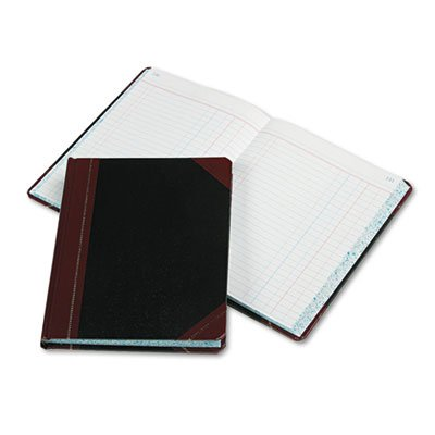 Record/Account Book, Journal Rule, Black/Red, 300 Pages, 9 5/8 x 7 5/8, Sold as 1 Each