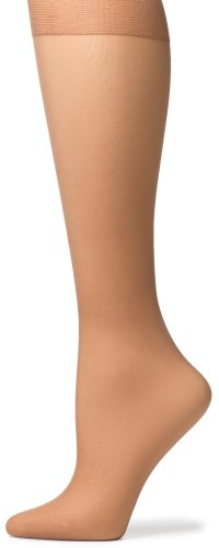 No Nonsense Women's Sheer Toe Knee Highs, 8 Pair Pack, Tan, Size Q