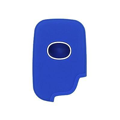 SEGADEN Silicone Cover Protector Case Skin Jacket fit for LEXUS 4 Button Smart Remote Key Fob CV2420 Deep Blue: Automotive
