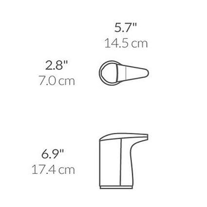 simplehuman - Dispensador de jabón con sensor y muestra de jabón: Amazon.es: Hogar