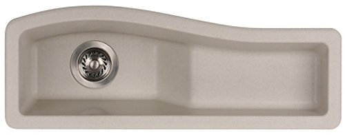 Swanstone Utility Sinks - Swanstone QZES-3011.171 30-Inch by 11-Inch Undermount/Drop-In Entertainment Sink, Champagne