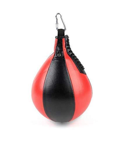 Leuchter pera De Boxeo Boxe para Adultos Y Niños para El Hogar Y El Himnasio Incluye Mosquetón, Cuero de la PU (Negro)