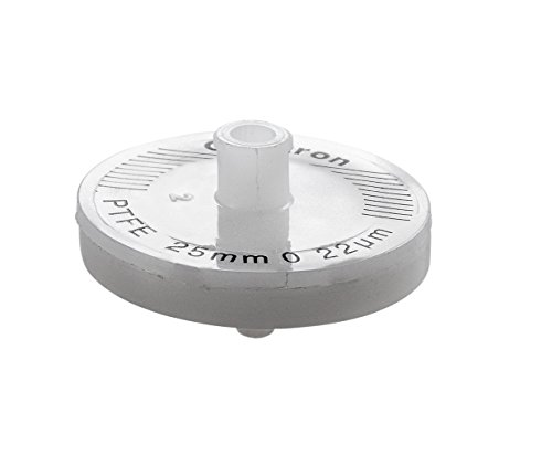 Omicron SFTF25RB PTFE Syringe Filter, Non-Sterile, 0.22 μm, 25 mm (Pack of 100) by Omicron