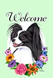 Cheap Papillion Black/White – Tomoyo Pitcher Welcome Flowers Large Flag