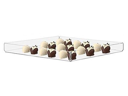 Soporte de 3 bandejas de acrílico Cupcake Pastelería Panadería Donut Pantalla
