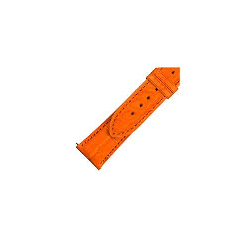 Alligator Strap Orange (Swiss Watch International 21 MM Orange Genuine Alligator Strap 21AST27M)
