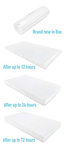 Graco Premium Foam Crib and Toddler Mattress (White) - Ships Compressed in Lightweight Box, Ideal Mattress Firmness, Featuring Soft, Water-Resistant, Removable, Hand-Washable Outer Cover