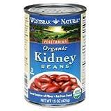 Westbrae Kidney Beans, Organic, 25-Ounce (Pack of 6)
