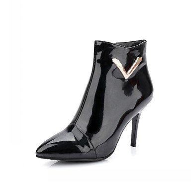 RTRY Women'S Boots Spring Fall Winter Comfort Novelty Patent Leather Leatherette Wedding Office &Amp; Career Dress Casual Party &Amp; Eveningstiletto US12 / EU44 / UK10 / CN46 ZefzK